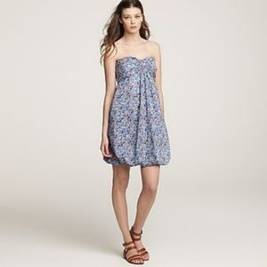 J. Crew strapless Liberty Springlily Astin dress